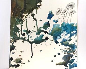 Abstract original nature painting