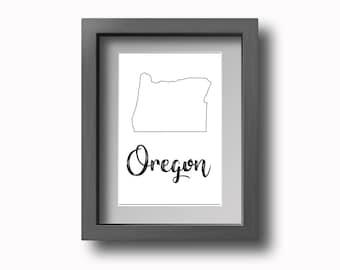 PRINTABLE Oregon Wall Art - Multiple Sizes!