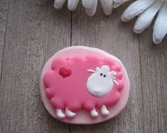 Sheep Silicone Mold - Sheep With Heart Mold - Silicone Mold - Food Safe Mold - Fondant Mold - Flexible Mold - Cake Decorating Mold - Mold