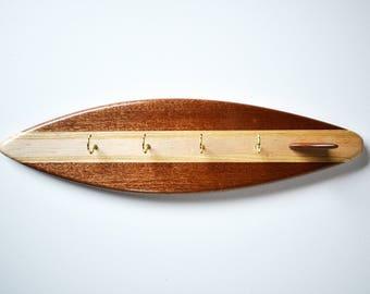 Surfboard Key Hanger - 'Helford  Passage'