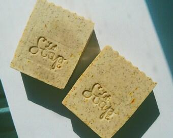 French Pear Coffee Scrub Soap