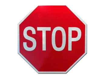 """Reflective """"Stop"""" Sign 18"""""""