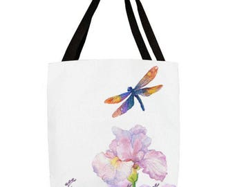 Dragonfly Flower Tote