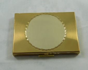 Vintage Zell Fifth Avenue Gold Compact with Mirror