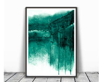 Abstract Art Printable, Wall Art Print, Living room Art, Green Abstract Art, Home Decor, Scandinavian Art, Digital Downloads, Abstract Print