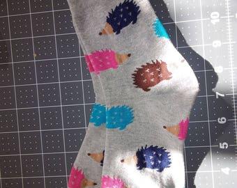 Hedgehog print socks