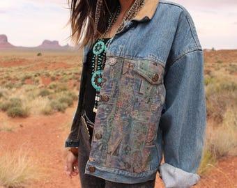 Vintage Southwestern Denim Jacket