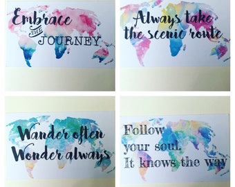 Wanderlust journal cards