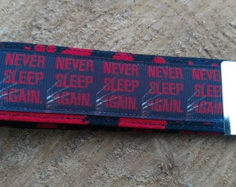 Never sleep again, Freddy Krueger, nightmare on elm Street key fob, keychain