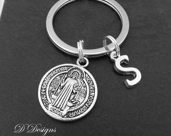 St Christopher KeyRing, St Christopher KeyChain, Protection Keyring, Religious Key Chain, Personalised protection Key chain, Re;igious Gifts