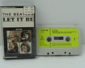 the beatles let it be cassette tape