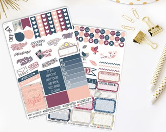 Happy Spring Weekly Vertical Planner Stickers Kit 849L