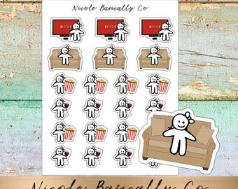 Cutie Pies- Netflix and Chill- Planner Stickers