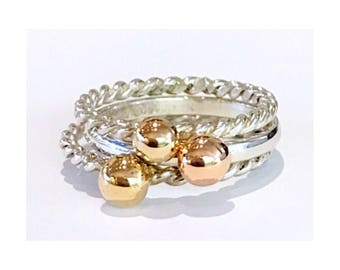 Molten ball stack rings