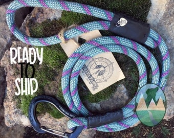 READY TO SHIP || 5ft Northstar Climbing Rope Leash || Handmade in the usa
