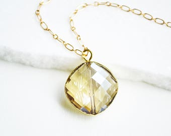 Crystal Necklace, Crystal Necklace pendant, Solitaire  Necklace, Gold Necklace, Gold Jewelry, Raw Crystal Necklace Gold, Charm Necklaces