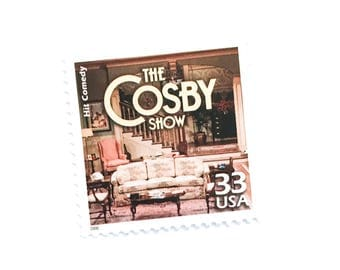 1 x The Cosby Show 33 cents UNused US Postage Stamp - Hit Comedy Huxtables Eighties - for mail art, journal, photo styling, card craft