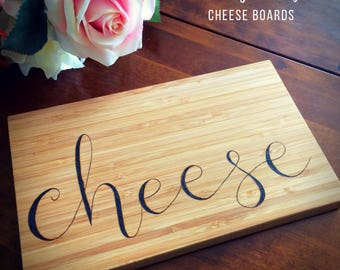 Custom cheese board, personalised cheese board, custom chopping board, bamboo board, custom cutting board, cheese lovers gift, housewarming
