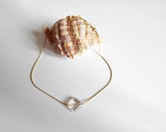 transparent Pearl Golden serpentine anklet