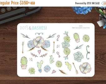 Entire Shop on Sale Sweet Succulent Decorative Stickers, planner stickers, decorative stickers, succulent stickers, SS05
