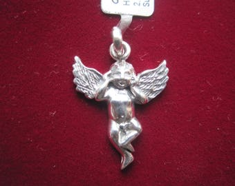 New Pendant of Guardian Angel for Happyness of Russian 925 Sterling Silver in unique design