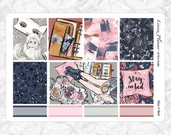 Stay in Bed Full Boxes   Stickers for your Erin Condren, Happy Planner, Kikki K, Filofax and more