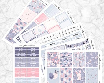 Easter Bunny Kit   Stickers for your Erin Condren, Happy Planner, Kikki K, Filofax and more