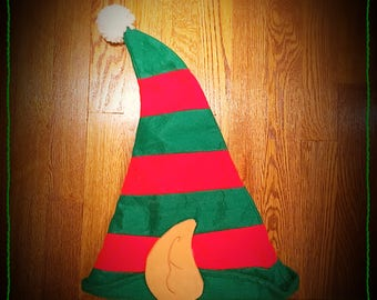 Christmas ELF Hat - Green and Red