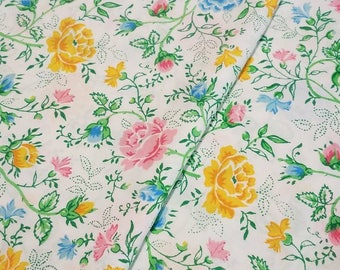 King size pink, yellow and blue floral/rose pillowcases