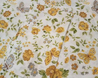Yellow rose butterfly pillowcases by cannon free shipping U.S only!