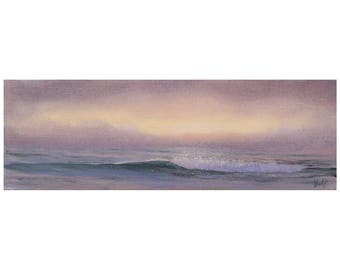 Beach Painting, Ocean Waves, Seascape, Beach Art, Small Oil Painting, Coastal Ocean Art, Original Ocean Painting, Before the Sunrise