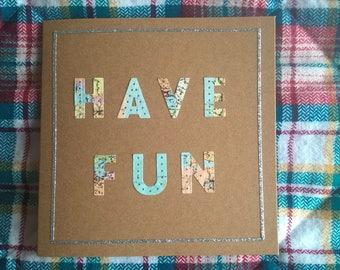 Have Fun around the world card