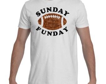 Men's SUNDAY FUNDAY Football Shirt - Softest Cotton - Football Sunday Shirts - Game Day Shirts - Grunge Football - Vintage Football Tees