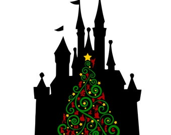 I'll Be Home For Christmas - Disney Castle - svg, pdf, png file