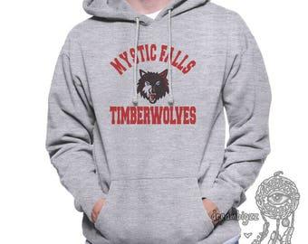 Mystic Falls Timberwolves Full Color print printed on Unisex Hoodie