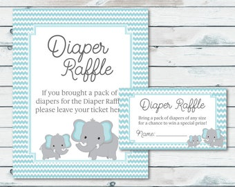 Diaper Raffle Ticket | Etsy