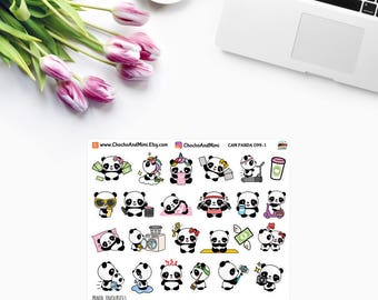 Amanda The Panda ~ MY FAVOURITES ~ Planner Stickers CAM Panda 099-1
