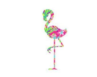 Flamingo - Flamingo Decal - Lilly Inspired Monogram