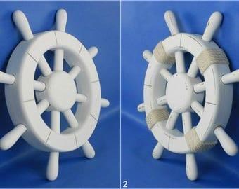 "wood ship wheel 12"" pirate wheel flying dutchman nautical decor 18 styles FREE SHIP"