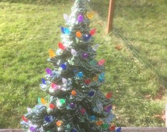 Windowsill ceramic  Christmas tree