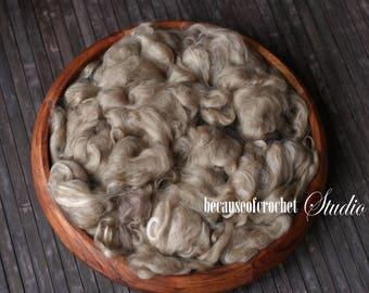 2,5 oz (70gr) Multicolor Large Basket Stuffer Merino wool. Newborn photo prop. Ready to ship