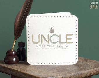Uncle birthday card / Happy birthday uncle / Birthday card for uncle / Uncle card / MT26