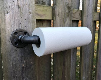 Industrial Modern Handmade Paper Towel Holder Pipe Kitchen/Cooking/Cleaning/Bathroom/Workshop/Garage/Fixture/Gift