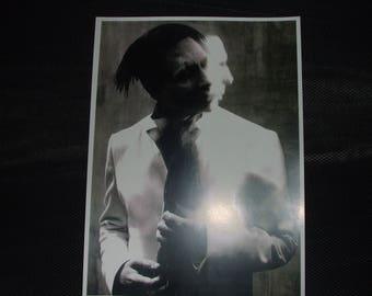 MARILYN MANSON 10x12 black and white pale emperor art print photo antichrist superstar