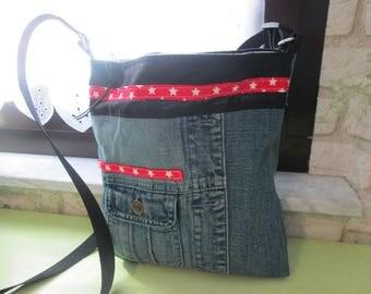 Jeans bag handbag party bag asterisk font