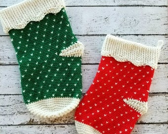 Crochet Stocking PATTERN - Christmas Stocking Crochet Pattern - Christmas Crochet Pattern - Stocking Crochet Pattern