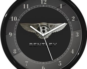 Bently Silver and Grey Wall Clock Garage Work Shop Gift Father's Day Man Cave Rec Room