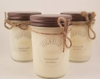 Cinnamon Hand Poured Soy Candle