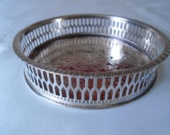 Viners 5'' silver plated wine coaster in original box