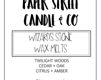 Wizards Stone Wax Melts | geode wax melts | wizardy wax melts | wax melts | twilight woods
